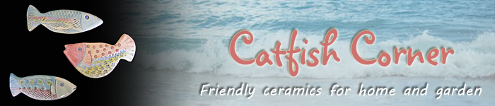 Catfish Corner banner - friendly ceramics for home and garden